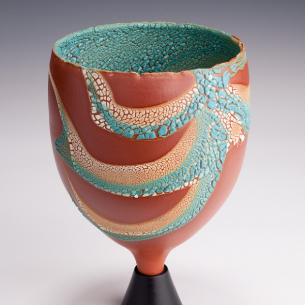 """Chalice by Mary Fox, 9 1/2"""" T"""