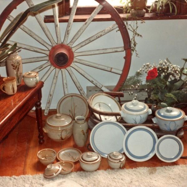 Mary Fox, James Bay apartment, early stoneware, 1981