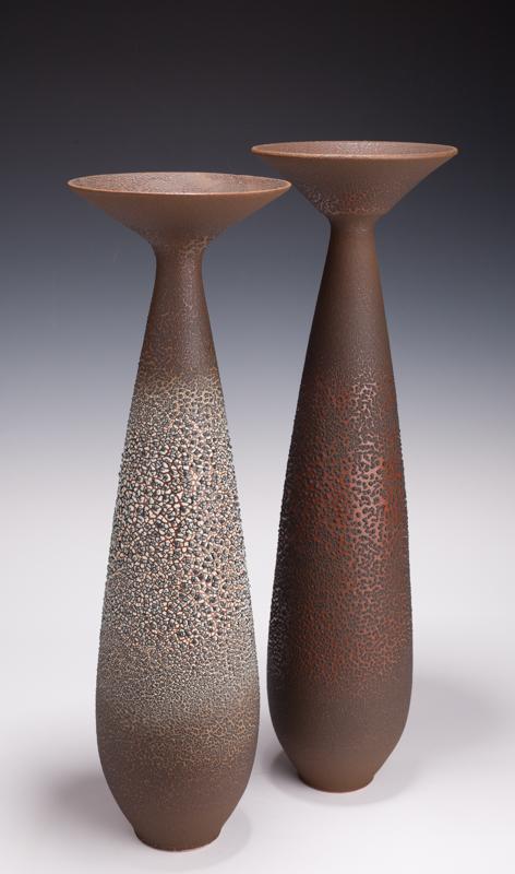 """Vase Pair, 18 1/2 """" T & 19 1/4"""" T"""