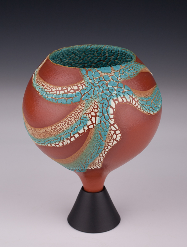 """Wee Chalice by Mary Fox, 7 1/2"""" T"""