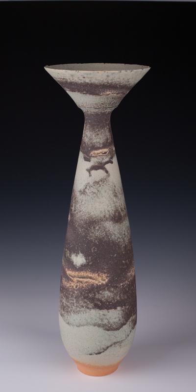 "Vase by Mary Fox : 18 "" T"