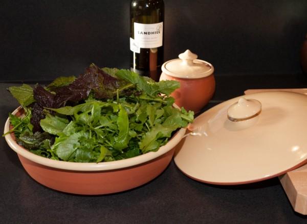 Garden Abundance in a Peasant Ware casserole