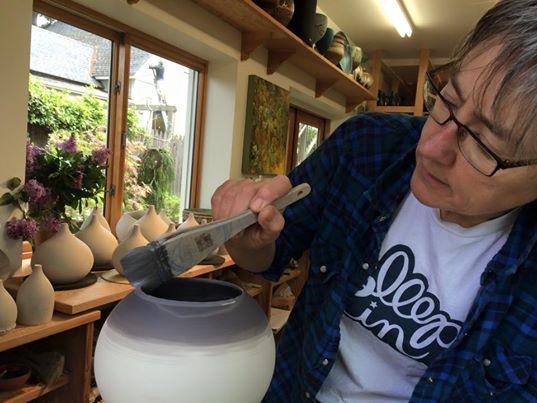Terra Sigillata being applied to Chalice