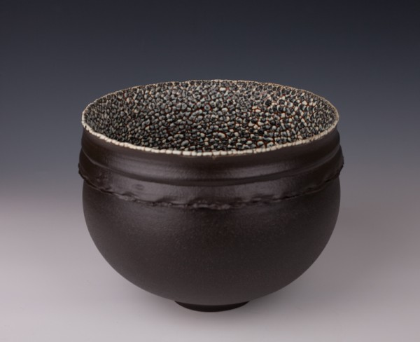 """Collared Bowl by Mary Fox 9"""" W x 7"""" T"""
