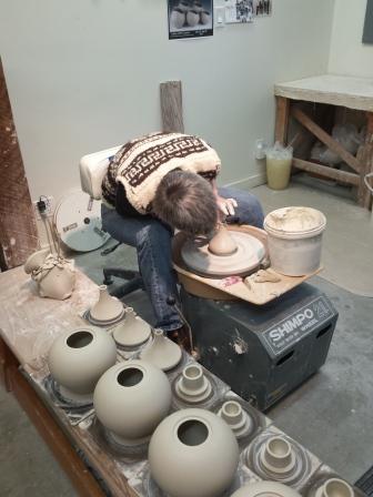 Throwing the Tea Pot parts, spouts, lids and the pot