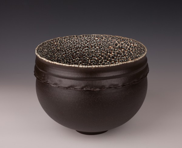 "Collared Bowl by Mary Fox 9"" W x 7"" T"